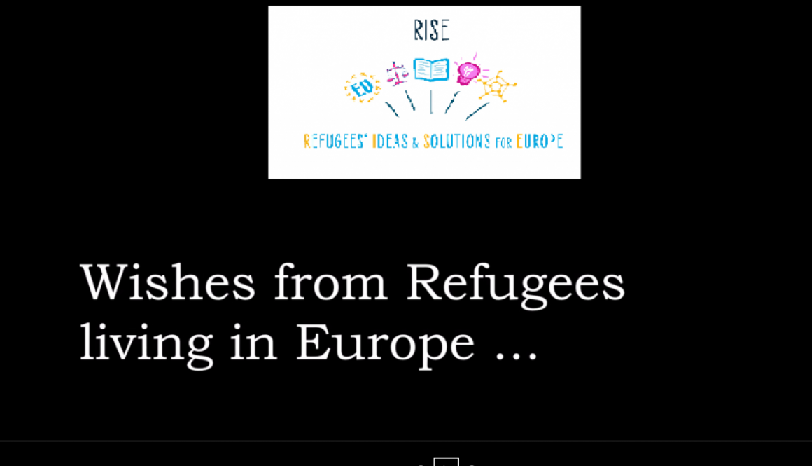 Refugees'Wishes- When Europe is preparing for Holidays…