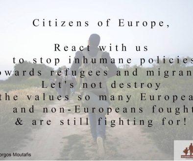 وفي الوقت نفسه، لا يزال الناس يموتون – نداء اللاجئين والمهاجرين