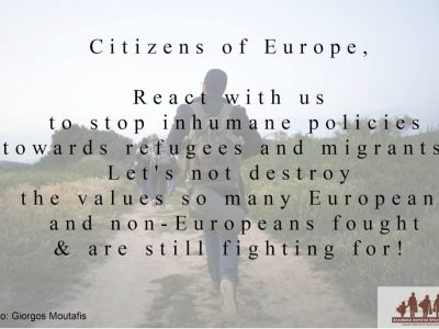 Meanwhile, people are still dying–Refugees & Migrants' Call