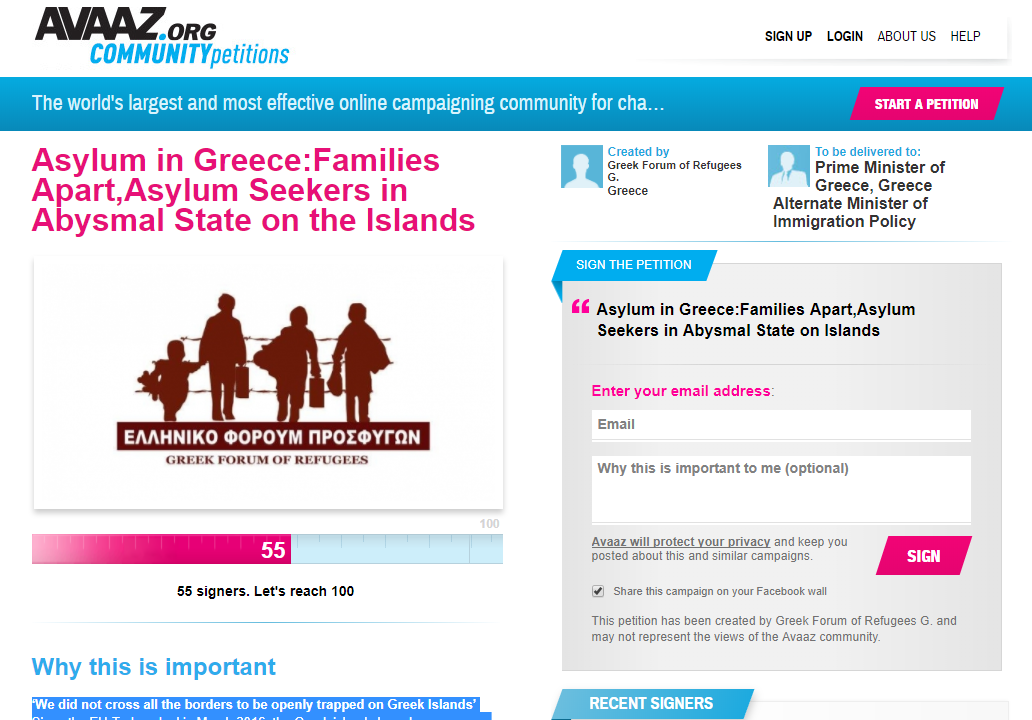 Greek Islands Asylum Seekers