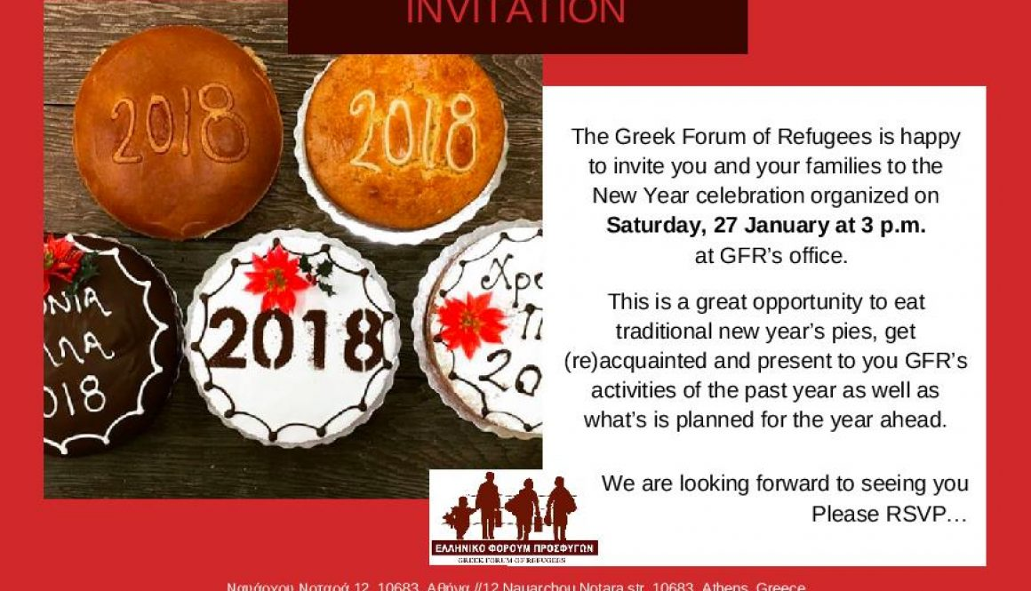 Invitation to GFR's New Year's Celebration