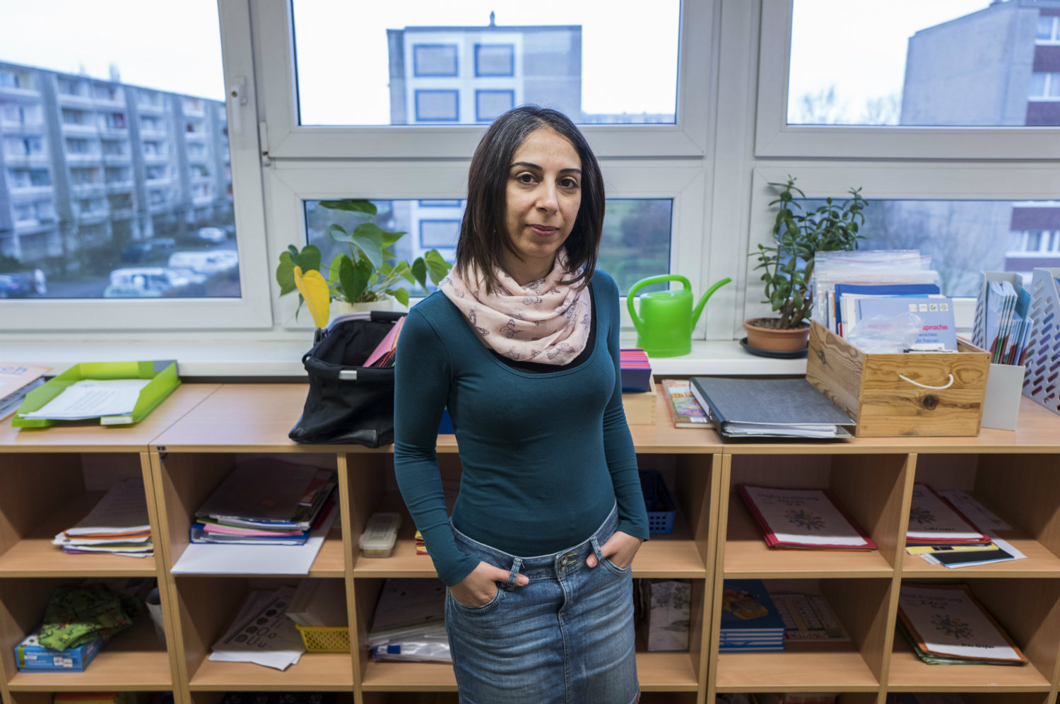 Syrian refugee teacher starts job at German school
