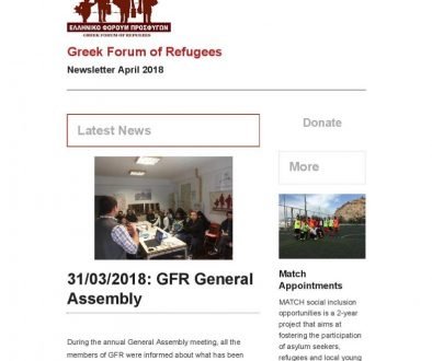 Newsletter April 2018