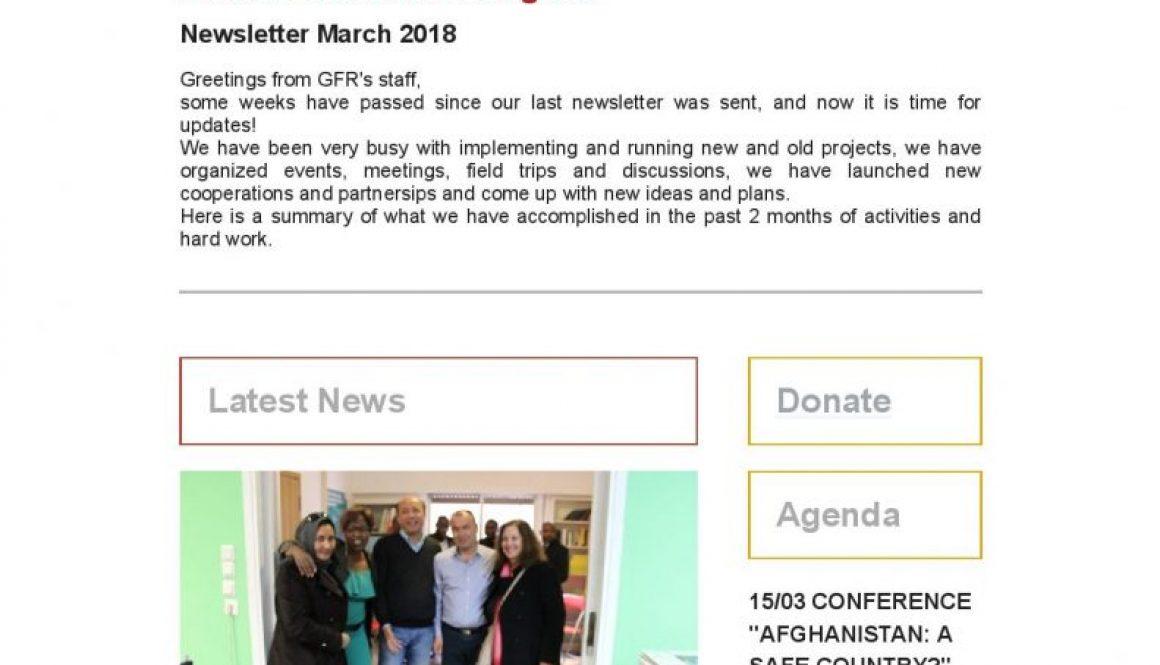Newsletter March 2017